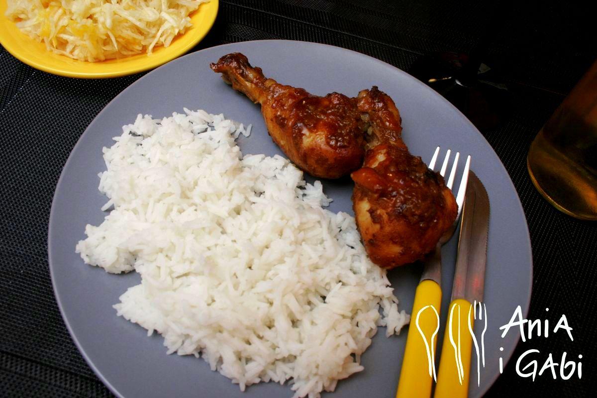 Pieczone udka kurczaka w sosie teriyaki