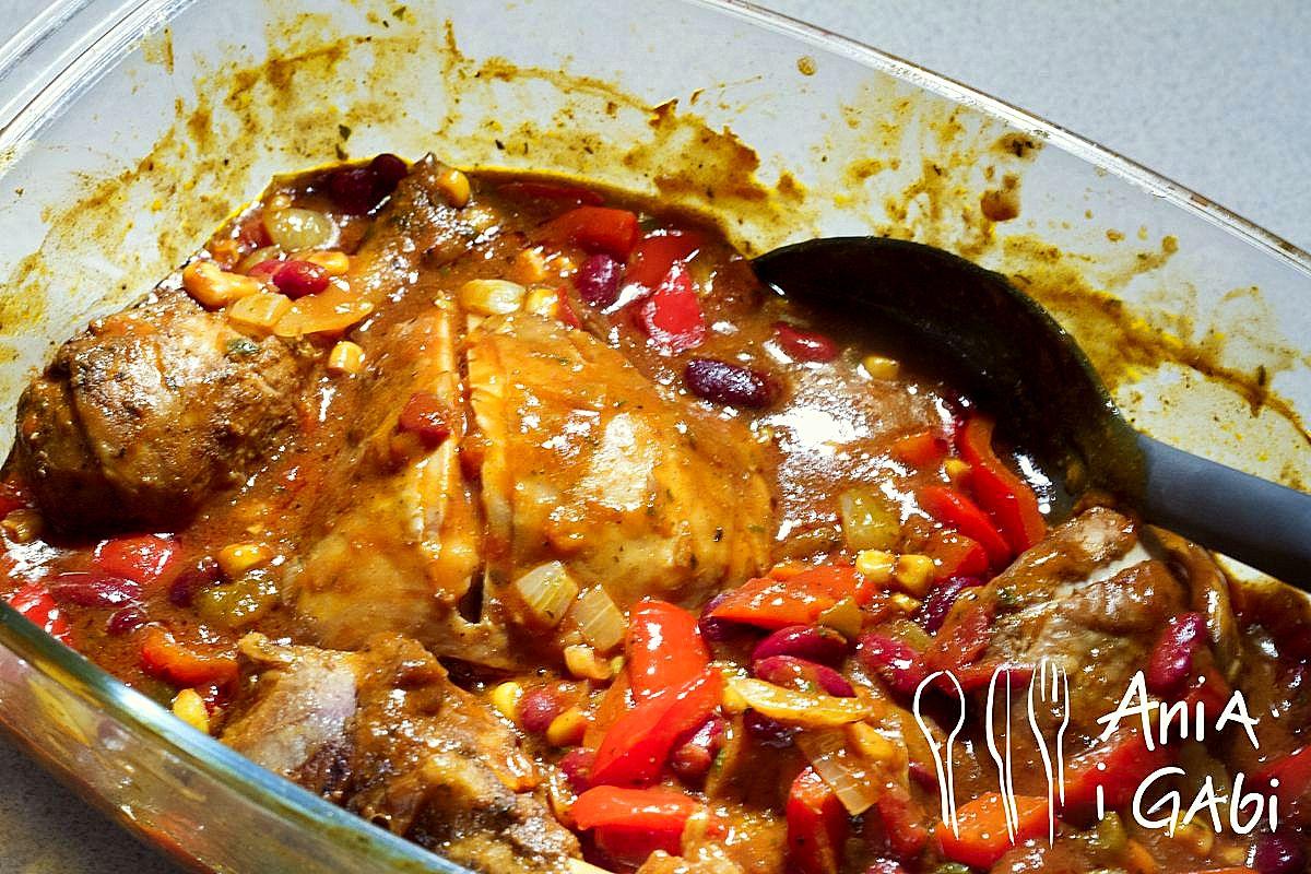 Kurczak w wersji meksykańskiej na wilczy apetyt!